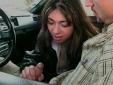 Very hot flirt in the car